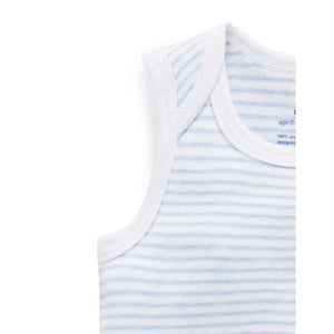 Pure Baby 2 Pack Singlet Bodysuit - Pale Blue