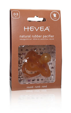 Hevea Natural Rubber Pacifier - Crown 0-3 months