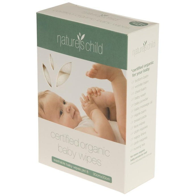 Natures Child Organic Baby Wipes 8 Pack