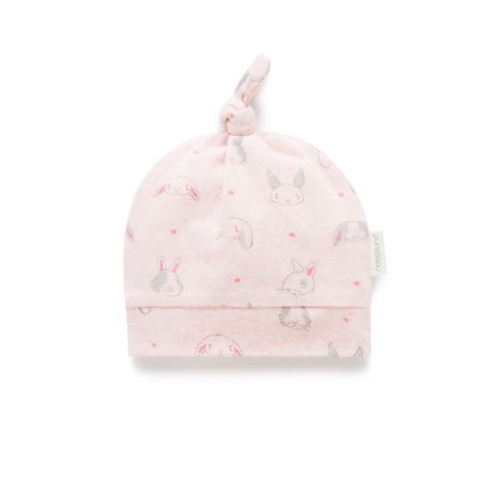 Pure Baby Little Rabbit Print Knot Hat
