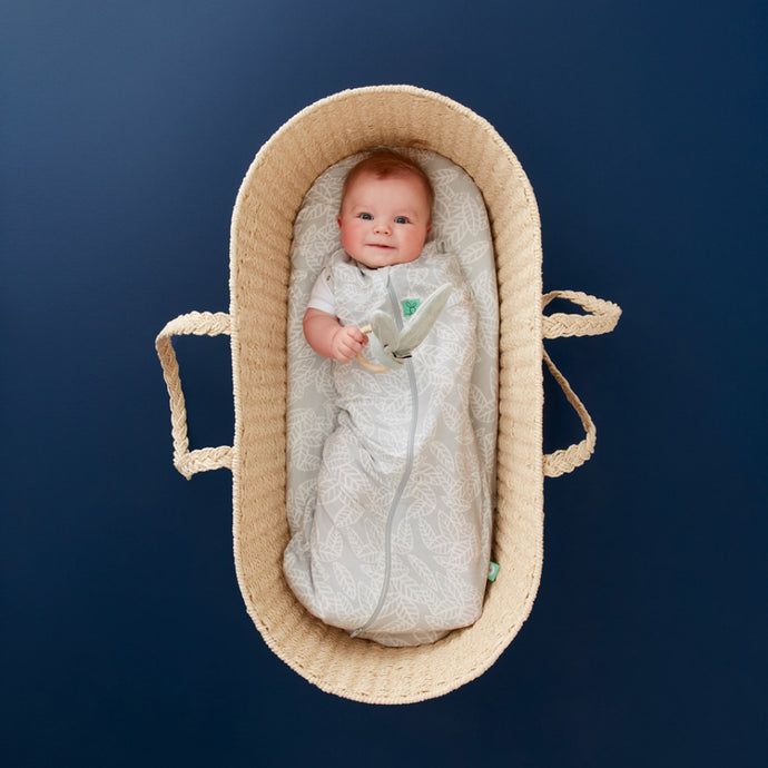 ergoPouch Cocoon Swaddle + Sleep Bag  (0.2 tog) - Rainforest Leaves