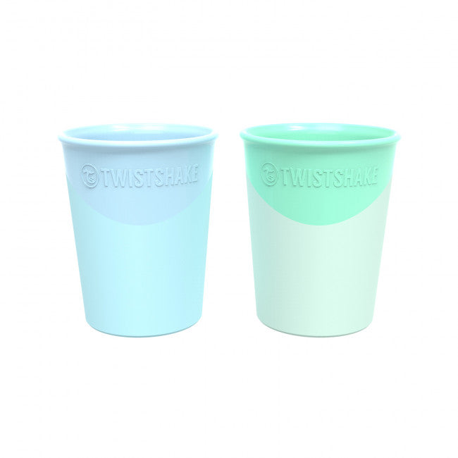 Twistshake 2x Cup 170ml Pastel Blue & Green