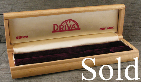 Driva Geneve/New York Vintage Watch Box  SOLD