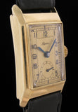 Alpina 14k Gold 1930's Art Deco Tank  Watch SOLD