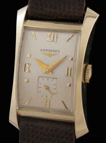 Longines Hourglass  14k Solid Gold Dress Watch            SOLD