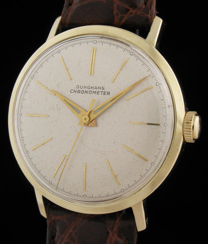 Junghans Chronometer 14k Gold Hack Seconds SOLD