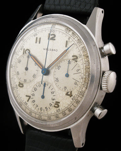 Huge Welsbro 3 Register Military Chronograph  SOLD