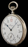 1917 Longines Pocket Watch Red 12 in Silver  SOLD