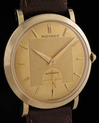 Movado Automatic Deluxe 14K Case & Dial SOLD