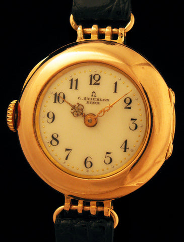 Rare Early Omega 18k Gold Right-Hand Winder SOLD