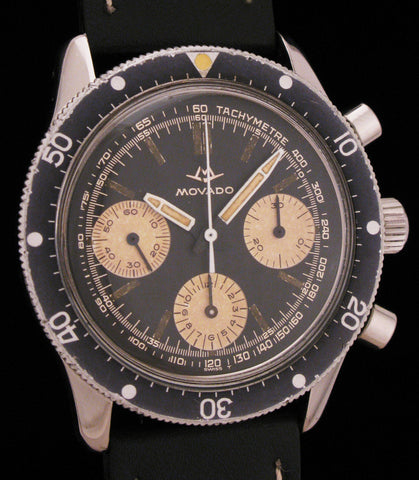 Rare Movado 3-Register Divers Chronograph SOLD
