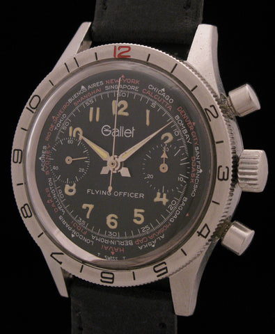Gallet Flying Officer Aviators Chronograph SOLD