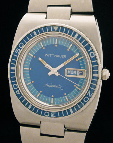 Wittnauer Blue Diver Day-Date Stainless Steel SOLD
