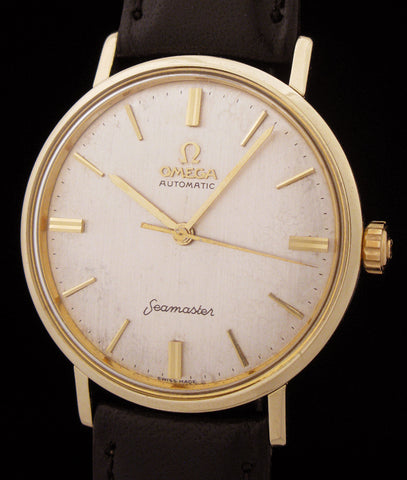 1961 Omega Automatic Seamaster 14k Gold Cap SOLD