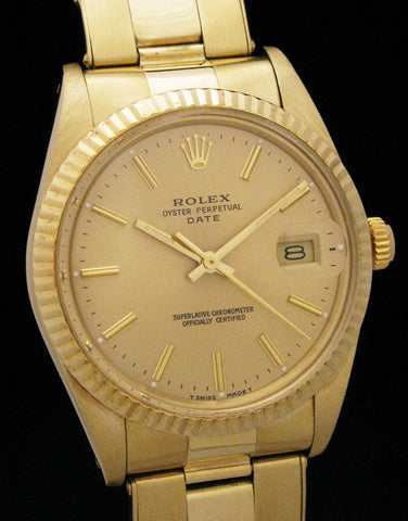 Rolex 14K 15037 Oyster Perpetual Date Full Set SOLD