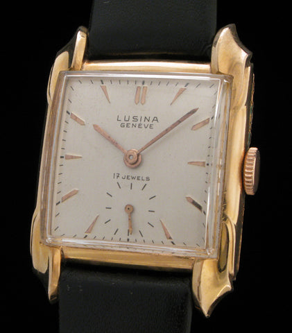 Lusina Geneve Tank Fancy Sculpted Case  SOLD
