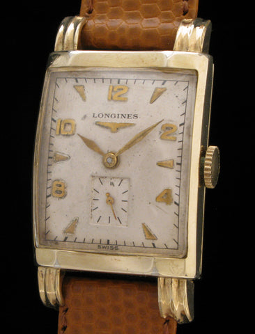 Longines Tank Style Watch With Fluted Lugs  SOLD