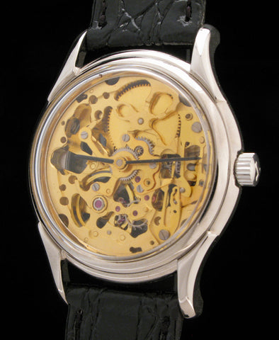 "Swiss Skeletonized ""See Through"" Watch   $295"