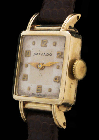 Ladies 14k Solid Gold Movado Fluted Lugs  $295