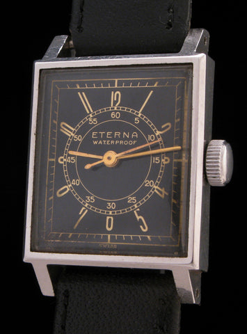 Eterna Early Waterproof Case Black Doctors Dial SOLD