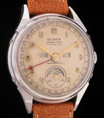 Buren Grand Prix Triple-Date Moonphase  SOLD