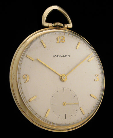 Thin 1940's Movado Pocket Watch Cal. 540 SOLD