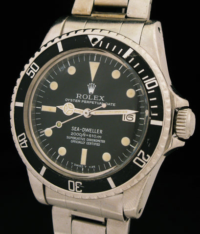 1979 Rolex Sea-Dweller 1665 Rail Dial With Military History