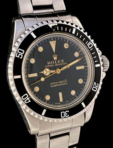 1965 Rolex Submariner 5513 Gilt Gloss Spider Dial Meters First