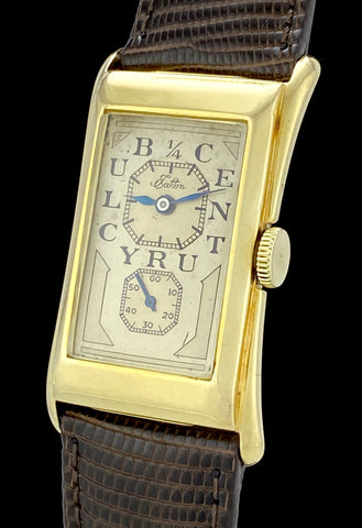 1938 Rolex Prince Eaton 1/4 Century Club 14k Gold Doctors Watch
