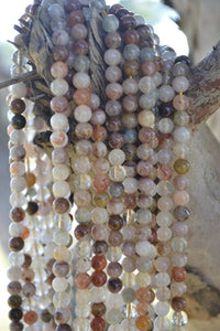 Mixed Ritulated Quartz Beads