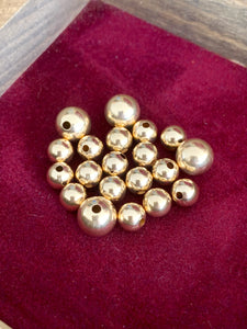 14K Gold Filled Round Beads