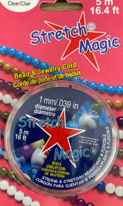 Stretch Magic - 1mm Clear Bead & jewellery cord