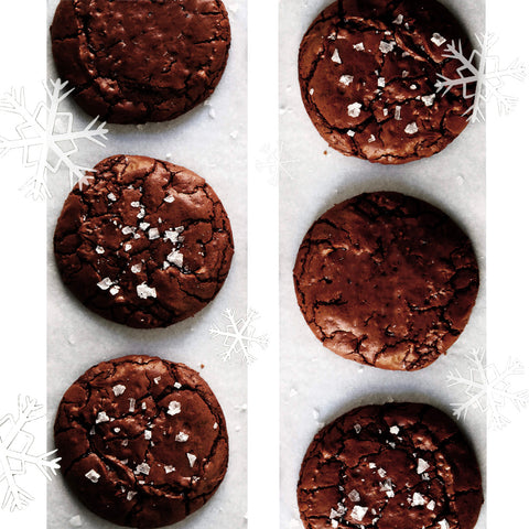 Icy Triple Chocolate Cookies