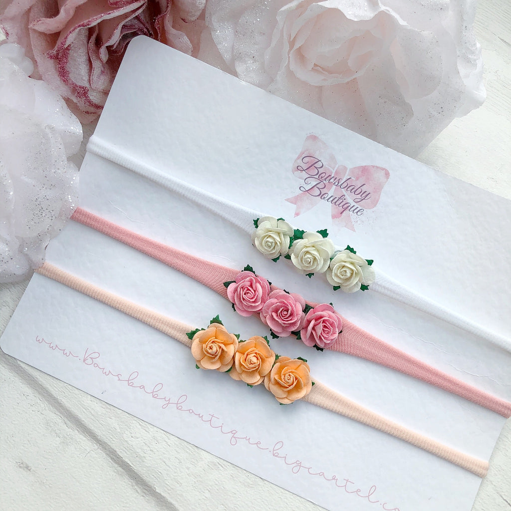Rose flower headband or clips ( single )