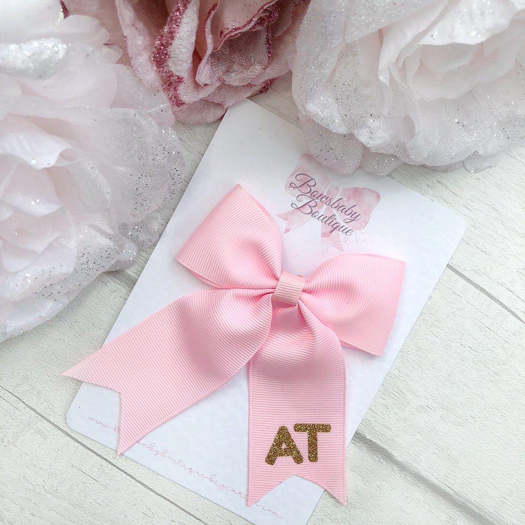 Personalised ponytail bows