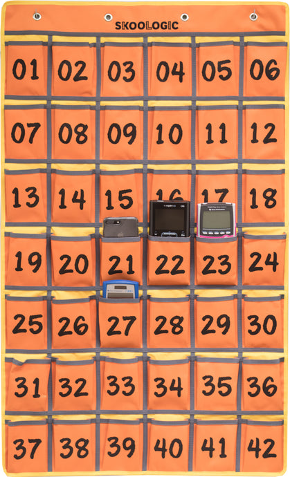 Skoologic Cubby Orange - Cell Phones and Calculators Pocket Holder for Classroom