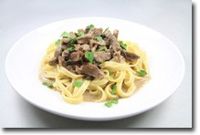Coconut Beef Stroganoff recipe photo using coconut water vinegar