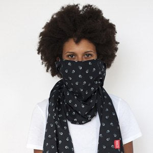 Midnight Navy Floral Scarf