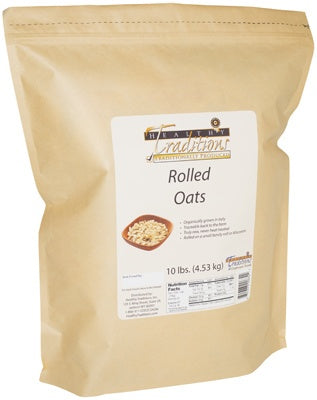 Raw Rolled Oats - 10 lbs. photo