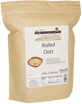 Raw Rolled Oats - 5 lbs. photo