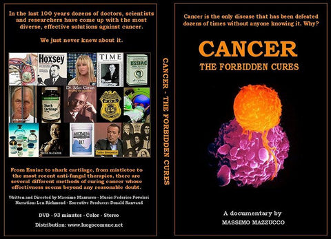Cancer The Forbidden Cures DVD image