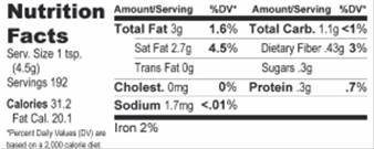 Nutrition Facts 32 oz.