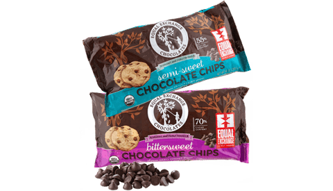 Organic Soy Lecithin-Free Semi-Sweet and Bitter Sweet Chocolate chips image