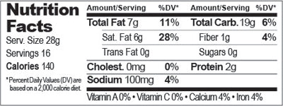 Corn Tortilla Chips - Nutrition Facts
