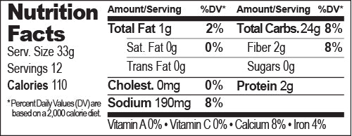 Cornbread Mix Nutrition Facts