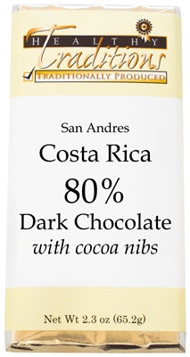 Costa Rican Dark Chocolate with Cocoa Nibs