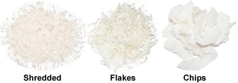 Dried Coconut - Shredded, Flakes, Chips