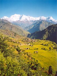 The Himalayan Mountains where Himalayan Pink Salt is mined