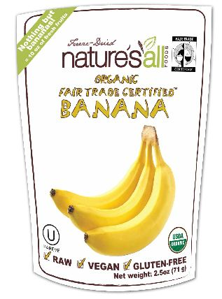 Organic Raw Freeze-Dried Banana