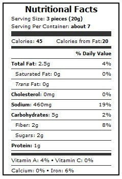 Organic Sundried Tomatoes Nutritional Information